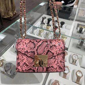 MK Rose Flap Shoulder Bag Crossbody Pink